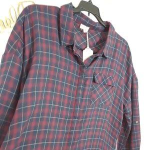 Hem & Thread Plaid Tunic Top size 1x